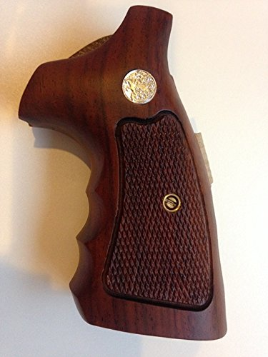 handicraftgrips New Smith & Wesson S&w N Frame Square Butt Grips Open Back Checkered Hardwood Handmade
