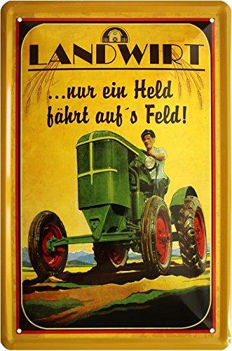 Agriculteur – Seulement Un Held Scooter sur s Champ Tracteur Bauer 20 x 30 cm Plaque de 939