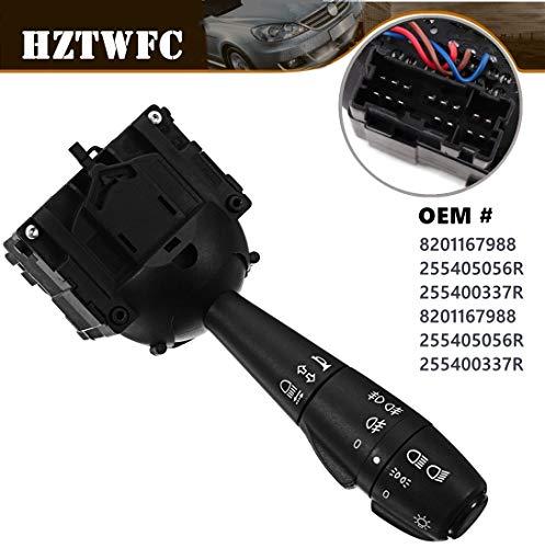 HZTWFC Steering Column Fog Lamp Switch Indicator Light Stalk Unit OEM# 8201167988 255405056R 255400337R 8201167988 255405056R 255400337R