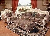 HXTSWGS Funda de sofá, Fundas de sofá seccionales Acolchadas, Asiento de Amor reclinable de Cuero en Forma de L, Funda de Respaldo de apoyabrazos-café Color_90 * 180cm