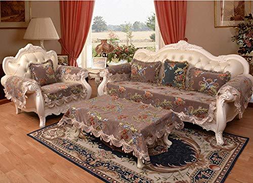 HXTSWGS Funda de sofá, Fundas de sofá seccionales Acolchadas, Asiento de Amor reclinable de Cuero en Forma de L, Funda de Respaldo de apoyabrazos-café Color_90 * 90cm