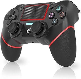 コントローラー 無線 Pro コントローラー HD振動 小型6軸 ジャイロセンサー搭載 スイッチコントローラー Bluetooth接続 日本語取扱説明書Playstation 4 / PS4 Pro / PS4 Slim/PC(Windows ...