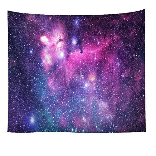 Beydodo Tapices Indios Pared Cielo Estrellado Rosa Roja Púrpura Tapiz de Tela para Pared Poliéster Talla 100x75CM