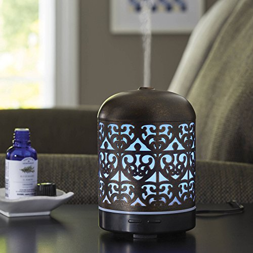 BLOSSOMZ Better Homes and Gardens Essential Oil Diffuser, Moroccan Scroll