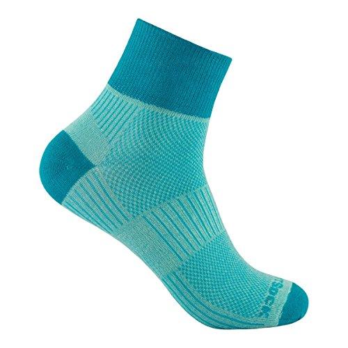 Wrightsock Coolmesh II Quarter Socke, Seamist-Turquoise
