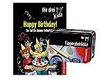 Die DREI ??? Kids - Happy Birthday!: EIN Fall für deinen Geburtstag (Gebundenes Buch) + 1 Forscherkästchen
