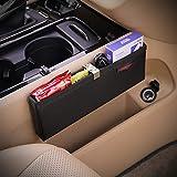 KMMOTORS Ultra Slim Mini Organizer for Phone, Cigar and Other Slim Things. Gap Filler Car Seat Side Organizer Extra Storage, Multi-Functional (Medium)