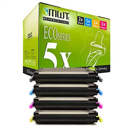 5X MWT kompatibel Toner für HP Color Laserjet 4700 PH DN N DTN Plus ersetzt Q5950A-53A 643A