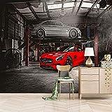 fotomural Taller de coches Fotomurales Cartel De La Pared hogar Póster Antecedentes Salón Dormitorio Decoración-140X100cm (55X39 inch)