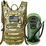 MIRACOL Tactical Molle Hydration Backpack Pack with 2L Water Bladder, Military Water Backpack Keeps Water Cool Up to 4 Hours for for Hiking, Biking Walking, Climbing, Outdoor Sports