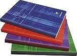 Clairefontaine 9721C - Cuaderno cosido (Lomo de tela) A5 MAXI rayado francés (Séyès) de 144 páginas, 1 unidad, colores...