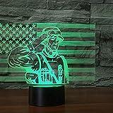 LED Bluetooth Smartphone APP LampLED Nachtlichter 3D-Flagge Soldat Illusion Nachttischlampe 7 Farben Ändern der Schlafbeleuchtung Kinderspielzeug Nettes Geschenk Kreative Heimdekoration Perfekte Kun