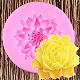 WYNYX 3DLotus Crisantemo Flores Herramientas de decoración de Pasteles de Boda DIY Hornear Fondant Molde de Silicona