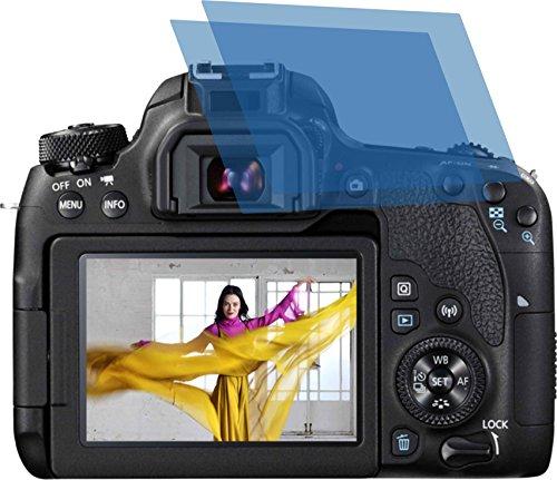 4ProTec I 2X Crystal Clear klar Schutzfolie für Canon EOS 77D Premium Displayschutzfolie Bildschirmschutzfolie Schutzhülle Displayschutz Displayfolie Folie