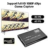 4YANG Tarjeta De Captura HDMI/USB 3.0/1080P/4K/60 FPS Game Capture conversor para Juegos en Streaming o Emisión En Directo para Playstation 4, Xbox One, Xbox 360 - Compatible con Windows Linux Mac