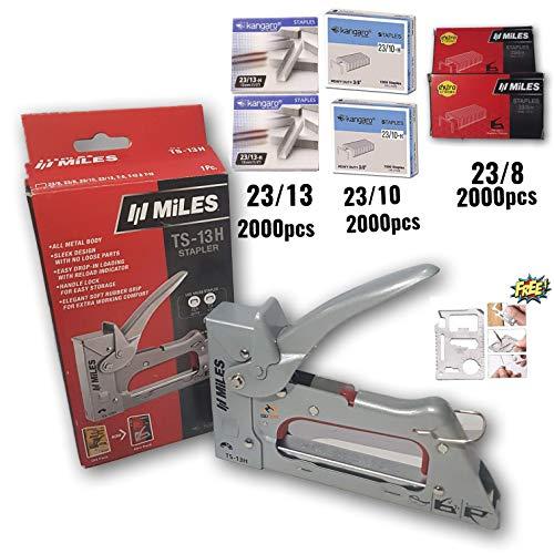 Tools CentreTM Kangaro TS-13H Miles Ganzmetall-Karosserie-Tacker, Heftpistole mit gratis Heftklammern 23/8, 23/10, 23/13