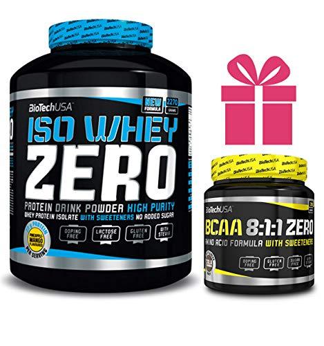 Iso whey zero 2,27 kgs chocolate + bcaa 8:1:1 180 grs