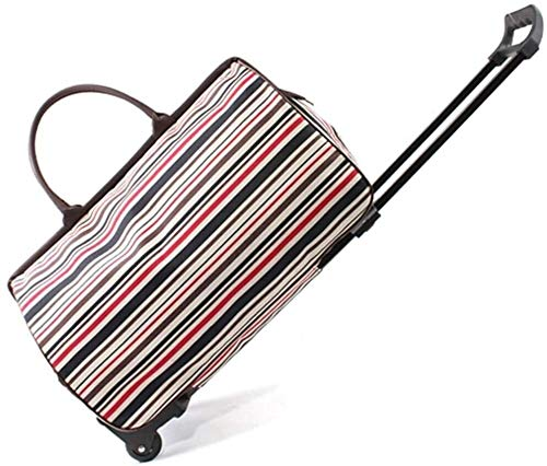 samantha Traveling backpack Trolley Cabin Suitcase Luggage Suitcase Travel Portable Travel Bag Large Capacity Lightweight Fabric (Color : Colorful Stripes, Size : 51.5 * 23.5 * 34)