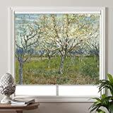 PASSENGER PIGEON Blackout Window Shades, Orchard with Blossoming Apricot Trees, by Vincent Van Goah, Premium UV Protection Custom Roller Blinds, 55' W x 60' L