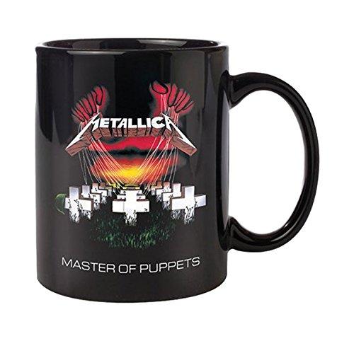 Empireposter - Metallica - Master of Puppets - Größe (cm), ca. Ø8,5 H9,5cm - Lizenz Tassen Metallica - Keramik Tasse, schwarz, bedruckt, Fassungsvermögen 320 ml, offiziell lizenziert, spülmaschinen- und mikrowellenfest