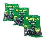 Katzen Ohren- Hard Licorice Candy Cat Ears, 3 Pack by Katjes