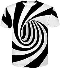 NISO p Vertigo Hypnotic Printing T Shirt Unisxe Funny Short Sleeved Tees Men/Women Tops Men's 3D T-Shirts