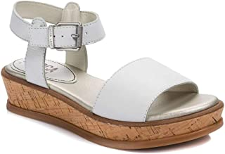 Lucca Lane Womens Seleste Leather Open Toe Casual Ankle Strap Sandals