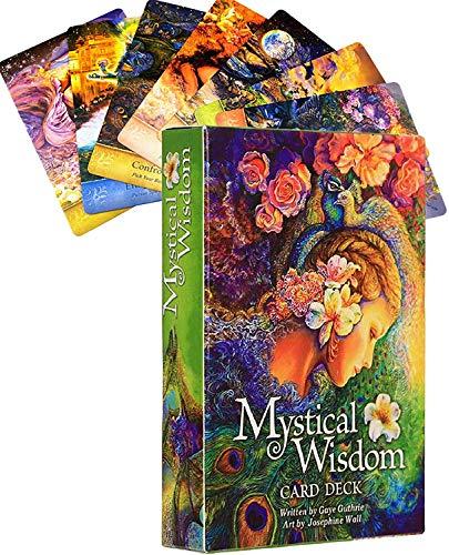 YF-SURINA Mystical Weisheit Tarot Deck Solitaire 46 Pc, Family Party Solitaire Schicksal Deck Divination Spiel, Deutsche Version, Tarotkarte Für Anfänger