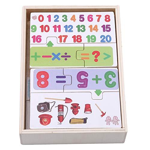 unknow Lionmer - Rompecabezas de madera para el desarrollo preescolar con letras y números multifuncionales a juego de juguete cognitivo