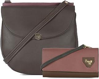Baggit Women's Handbag With Wallet (Beige)