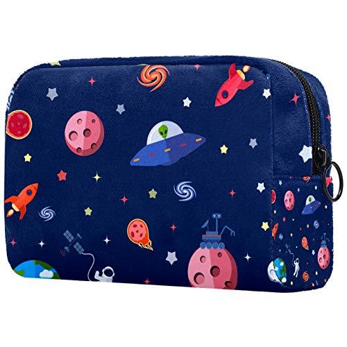 Reise-Kulturbeutel, einfache Organisation für Männer oder Frauen, Raumfahrt, Astronaut, Erde, Sterne, Marineblau