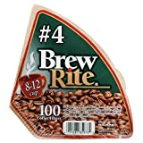 #4 Cone Coffee Filter, 100-Count-Brew Rite-46-101W/24 by Brew Rite