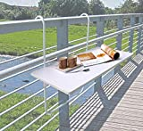 Dynamic24 Balcon Table Pliante Table Suspendue pour Balcon Pliable Table Suspendue...