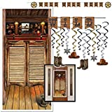 Country Western Party Decorations Supplies Wild West Saloon Theme Cowboy Horse Riding Horseback Cattle Rancher Birthday Set Kit Pack