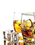 DomeStar Clear Fake Ice Cubes, 20 PCS 0.8' Plastic Ice Cubes Acrylic Clear Ice Rock Diamond Crystals Square Fake Ice Cubes Display for Home Decoration Wedding Centerpiece Vase Fillers