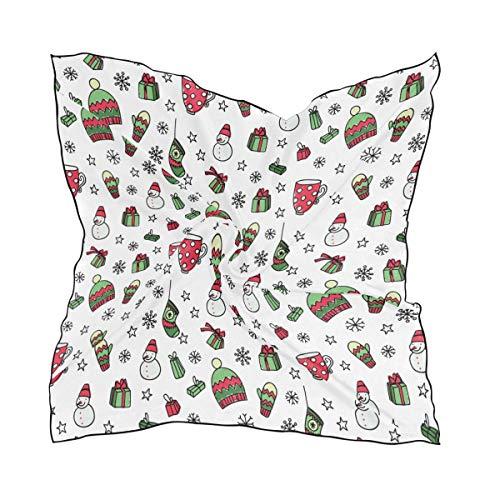 Keepers Lightweight Print Head Wraps Schal Schal Platz für Frauen Damen Kopftuch 60 × 60 CM Weihnachten Neujahr