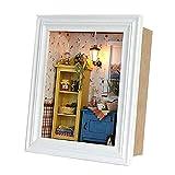 Sharplace Mini Muebles Marcos de Fotos en Miniatura DIY Decoración Ornamento de Dollhouse Niño Amigo - Amanecer Cálido
