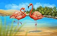DIY 絵画番号フラミンゴ手描きの油絵キャンバスパーソナライズされたギフト家の装飾