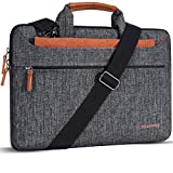 DOMISO 13.3 inch Laptop Sleeve Shoulder Bag Water-Resistant Protective Messenger Bag Business Briefcase Handbag for 13' MacBook Pro Retina/MacBook Air/13.3' Dell Inspiron/XPS 13/Asus/Lenovo/HP,Brown