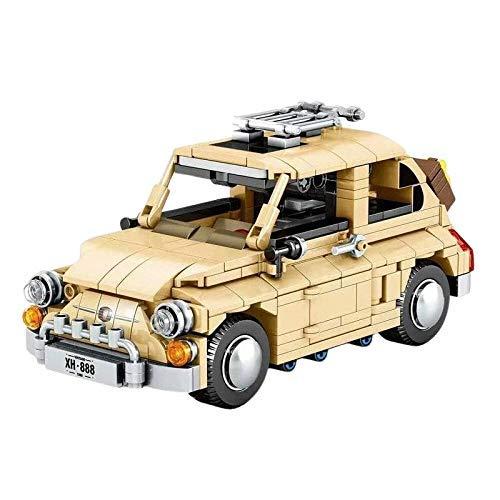 Vehículo de ingeniería Technic Racing Pull Back Sports Cars 500 Moc Kit de Ladrillos de construcción Bloques Su Modelo de vehículo Juguetes clásicos para niños