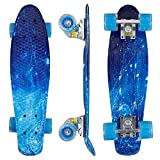 "Eseewin 22""x6"" Complete Mini Cruiser Skateboard for Beginners Youths Teens Girls Boys"