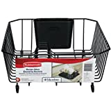 Rubbermaid Antimicrobial Dish Drainer, Small, Black