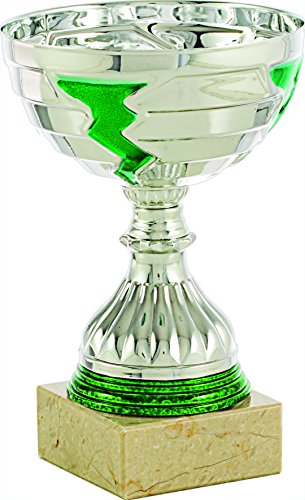 Art-Trophies AT81212 Trofeo Deportivo, Plateado/Verde, Talla Única