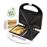 Aigostar Cieplo White 30CEV - Sandwichera de 700 watios en color blanco. Libre BPA. Calidad y...