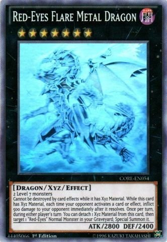 Yu-Gi-Oh! - Red-Eyes Flare Metal Dragon (CORE-EN054) - Clash of Rebellions - 1st Edition - Ghost Rare by Yu-Gi-Oh!