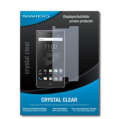 SWIDO Bildschirmschutzfolie für BlackBerry Motion [3 Stück] Kristall-Klar, Extrem Kratzfest, Schutz vor Öl, Staub & Kratzer/Glasfolie, Bildschirmschutz, Schutzfolie, Panzerfolie