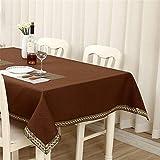 Mantel Rectangular Mantel De Color Sólido Mantel De Té Mantel Cuadrado Hogar Hotel Sala De Estar Mantel De Cocina Mantel Bordado 100x140cm