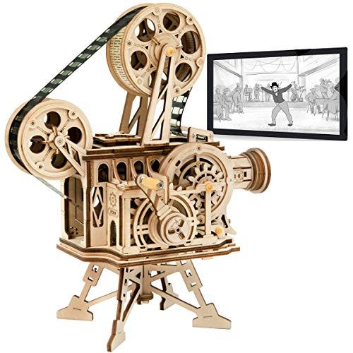 Robotime Meccanico Proiettore cinematografico - Puzzle 3D per Il Taglio di Modelli 3D per Il Legno - Giochi Artigianali in Legno per Bambini e Ragazzi