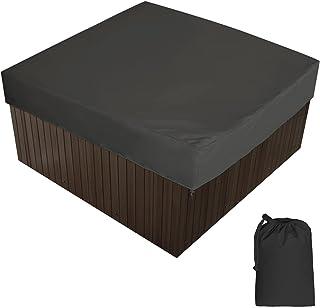 Anti-UV Cubierta para protecci/ón de Jacuzzi Impermeable 240cm/×85cm Cubierta SPA Janolia Cubierta para Jacuzzi a Prueba de Polvo Negro