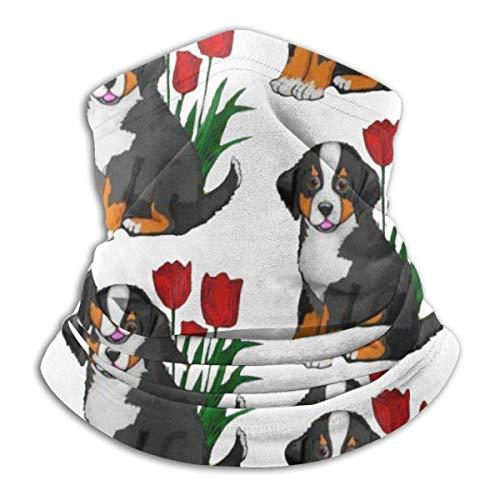ShiHaiYunBai Tour de Cou Cagoule Microfibre Chapeaux Tube Masque Visage, Bernese Mountain Dog Warmer Windproof UV Protection Neck Gaiter Scarf BandaFace